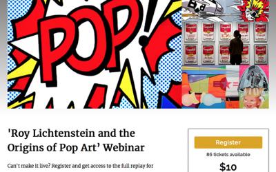 ORIGINS OF POP ART webinar 7/21